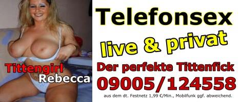 46 Busenstar Rebecca aus Hamburg live und privat am Sextelefon